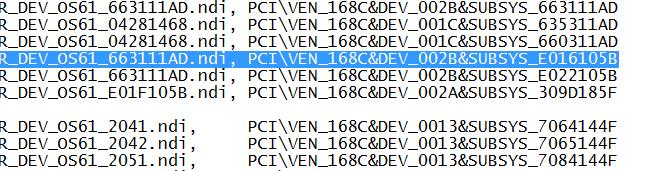 pci ven 168c dev 002b subsys e037105b rev 01