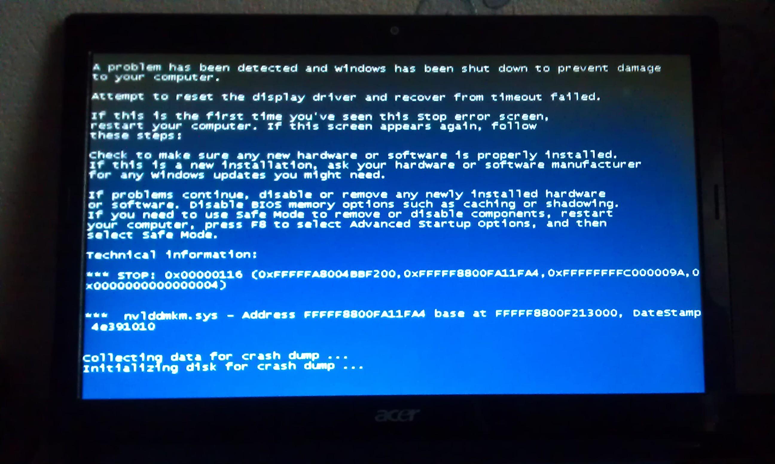 Проблемы после установки драйверов видеокарты