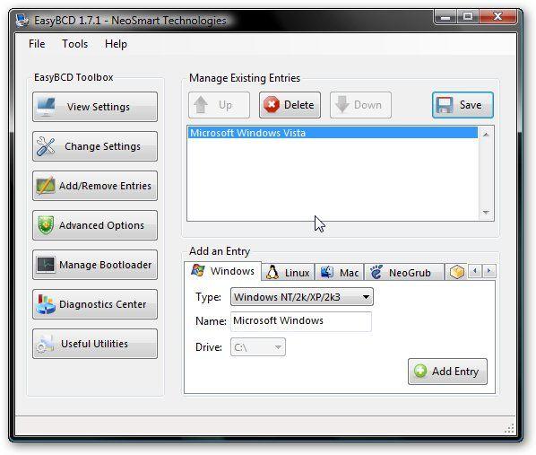 Чтобы окончательно избавится от Windows Vista - удаляем ее системные